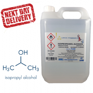 ISOPROPANOL ALCOHOL 100 LITRES SUPPLIED IN 20 x 5 LITRE HDPE JERRY CANS